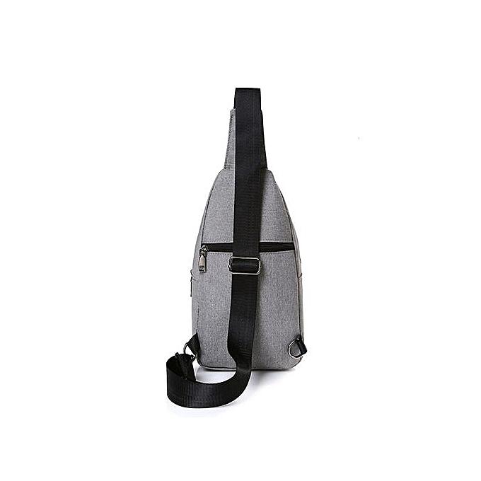 Generic Outdoor Sports Canvas Unbalance Backpack Crossbody Shoulder Bag Chest Bag à prix pas cher