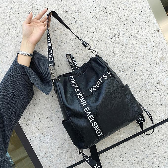 mode Singedan Shop Wohommes Preppy Style Letter Strap School sac voyage sac à dos sac à prix pas cher