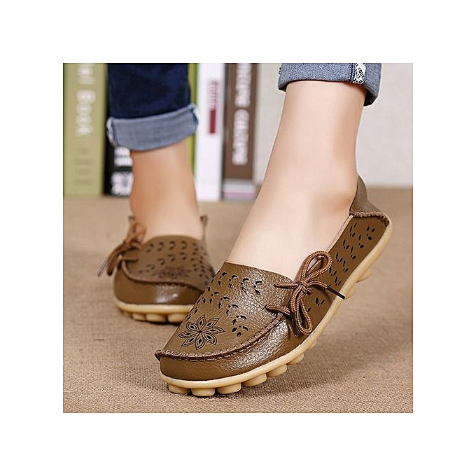 Fashion Factory Wholesale Sandals Summer chaussures Hole Flat Leather chaussures Casual Girls Aged Doug Mama chaussures Code KHAKI à prix pas cher    Jumia Maroc