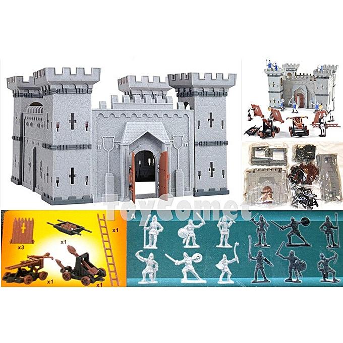 OEM Chevaliers Catapulte Château Jouets médiévaux Figurines d'Infanterie Accessoire Playse à prix pas cher