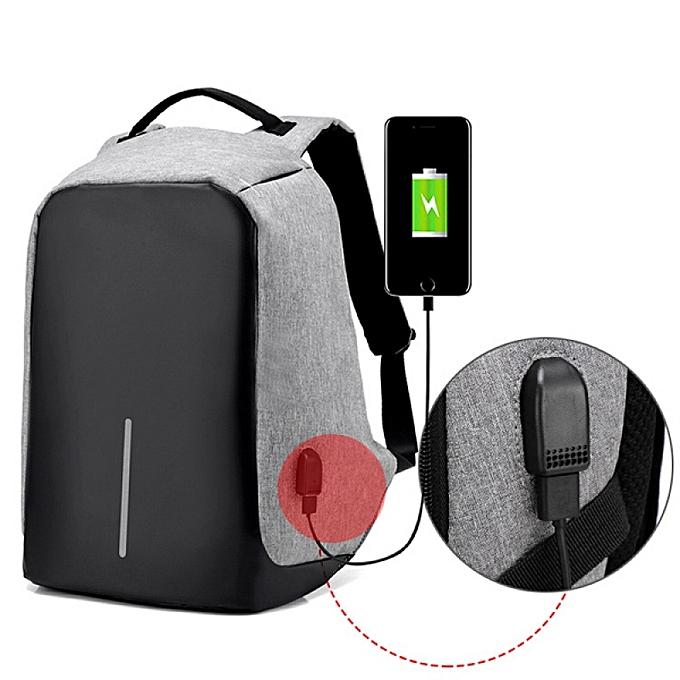 The Unbranded Brand Sac à Dos étanche antivol pour PC Portable Unisexe avec Port de Charge USB à prix pas cher