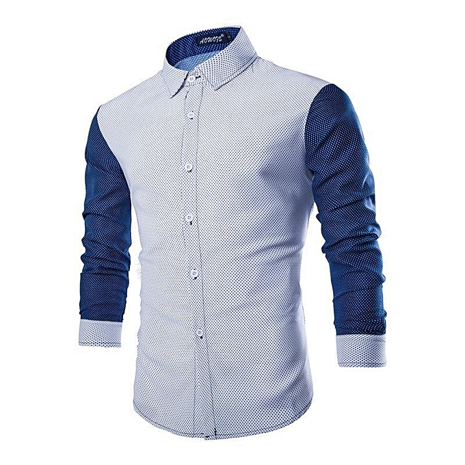 Other New Stylish Men's Long Sleeved  Wave Point Shirt à prix pas cher