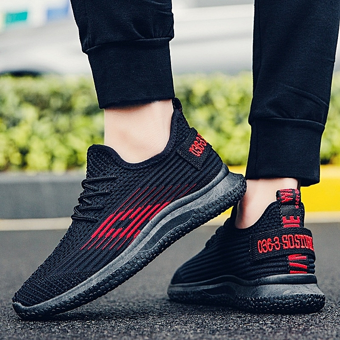 Other New Spring and Autumn New Men's baskets  Breathable Mesh Running chaussures-rouge à prix pas cher