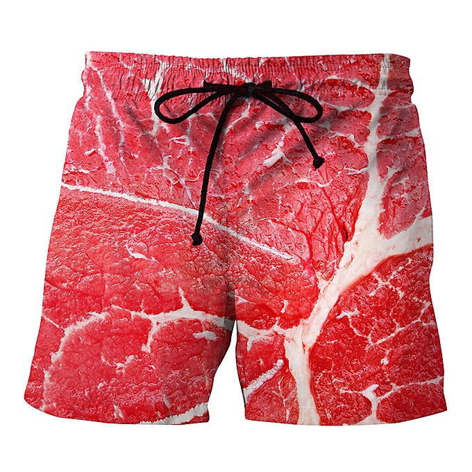 mode jiahsyc store Pour des hommes Décontracté  Muscle Printed  plage Work Décontracté Hommes courte Trouser courtes Pants à prix pas cher