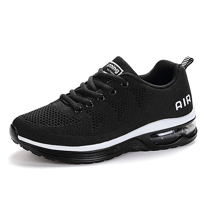 Other New Stylish Men's Fashion Flying Weave  Jogging Lace-up Mesh Breathable Sports chaussures-noir à prix pas cher