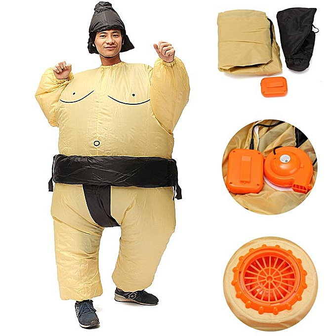 UNIVERSAL Inflatable Sumo Wrestler Fancy Robe Costume Fat Suit Hen Stag Night Outfit à prix pas cher