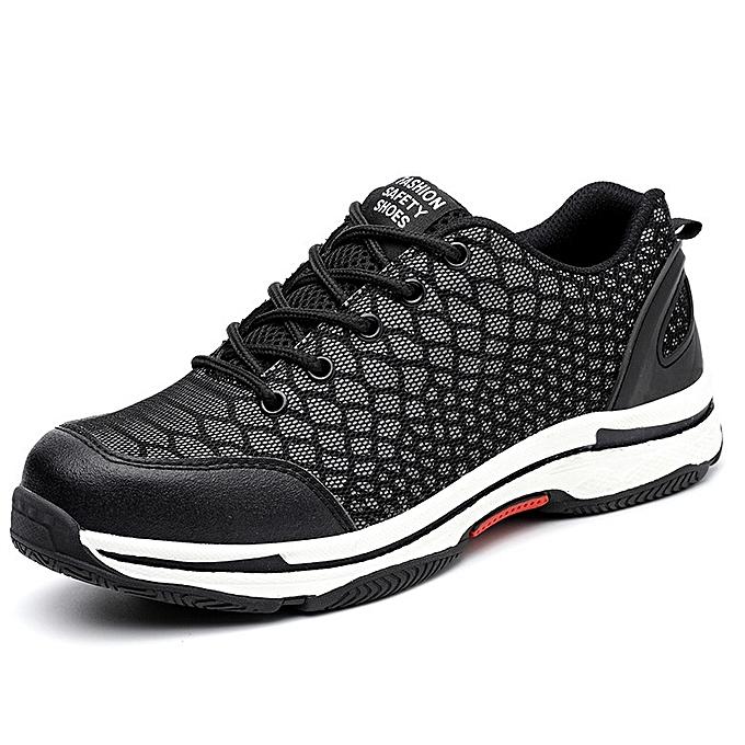 OEM Winter warm smash-proof puncture safety chaussures plus velvet high-top safety chaussures-noir à prix pas cher