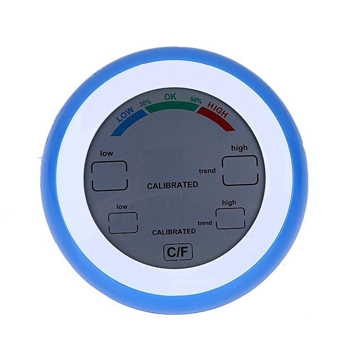 Other 1pc Touch Screen Thermometer Indoor Round Digital Temperature Hygrometer(bleu) (bleu) MQSHOP à prix pas cher