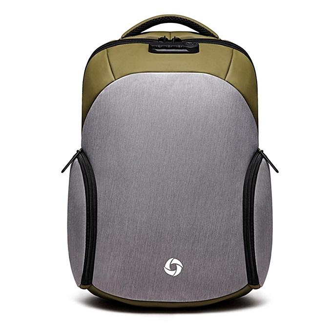 mode USB Charging sac à dos Décontracté Anti-theft Computer sac with Rainproof Cover & Combination lock à prix pas cher