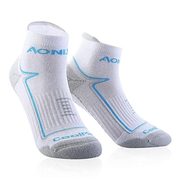 AONIJIE Outdoor Sports Running Socks Coolmax Athletic Perforhommece Tab Training Cycling Hiking Cushion Quarter Compression Socks(blanc)( Eur 39-42) à prix pas cher