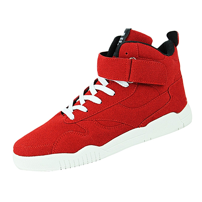 mode jiuhap store Décontracté Hommes's Sports chaussures Non-slip Basketball Wear-resistant Comfortable paniers-rouge à prix pas cher