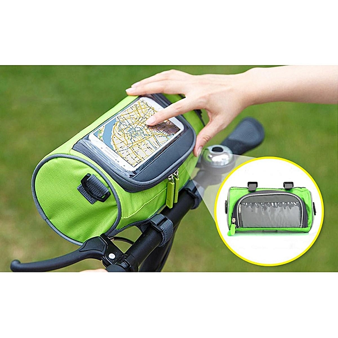 UNIVERSAL Hot Sale Portable Waterproof Touch Screen Bicycle Bags Cycling MTB Mountain Bike Frame Front for Phone Storage Waist Bag 22cm12cm12cm à prix pas cher