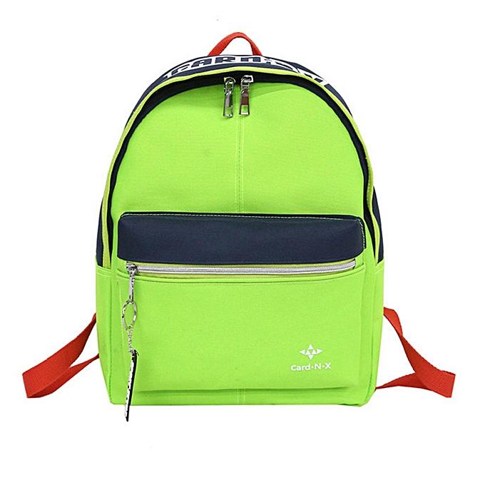Fashion Leisure Travel Nylon Couleur Patchwork Shoulder Bag Student Backpack Couples Bag à prix pas cher