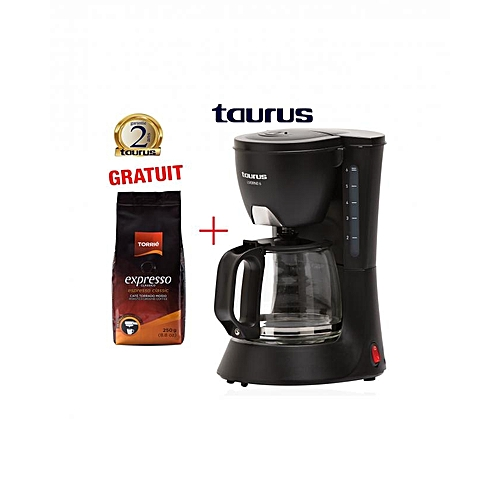 commandez taurus cafeti re liverno 6 tasses caf moulu 250 g expresso 2ans de garantie prix. Black Bedroom Furniture Sets. Home Design Ideas
