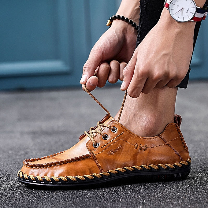 Fashion UK Men Business Oxfords Leather Square Toe chaussures Lace Up Drive Casual chaussures à prix pas cher