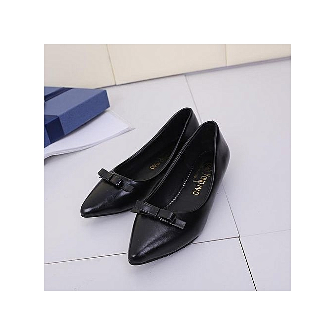 Tauntte Low Heels Shallow Lady Office Pumps Pointed Butterfly-knot Slip On femmes chaussures (noir) à prix pas cher    Jumia Maroc