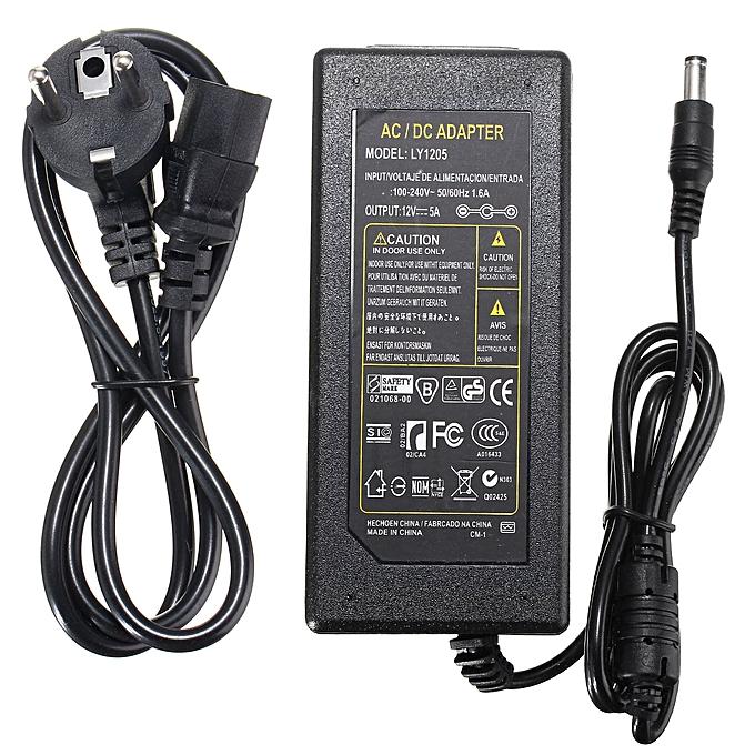 UNIVERSAL Power Supply Adapter For LED Light Strip AC100-240V to DC12V 2-10A + Connector   EU PLUG à prix pas cher