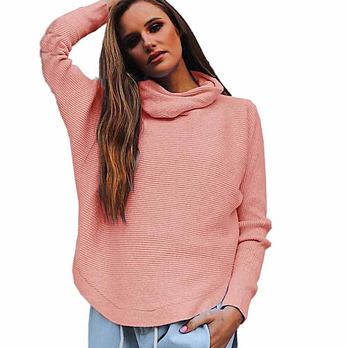 mode (Xiuxingzi) femmes Loose Knitted manche longue Jumper chandail Ladies Décontracté Knitwear hauts à prix pas cher