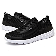 outlet store 71444 bc335 Fashion Summer Breathable Mesh Men Women Cycling Sports Running Couple Shoes -Black