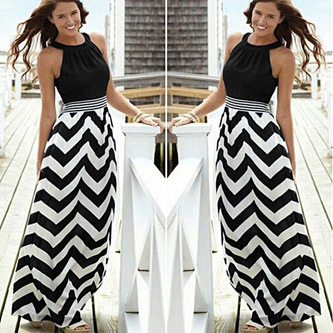 Fashion femmes New  Summer Long Maxi BOHO Evening Party Beach Dresses Sundress à prix pas cher