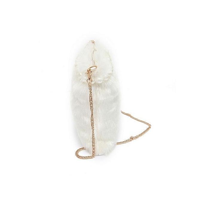 Siketu femmes mode Handsac Pearl Plush Shoulder sac grand Tote Ladies bourse WH- blanc à prix pas cher