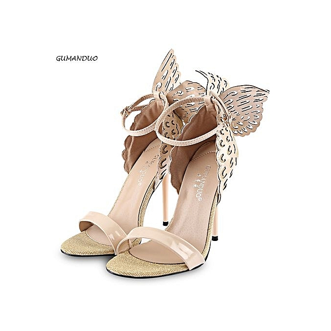 GUMANDUO GUMANDUO Sexy t Butterfly Wings EmbellishHommes t Sexy Ankle Strap   Thin High Heel Sandals à prix pas cher  | Jumia Maroc 52a136