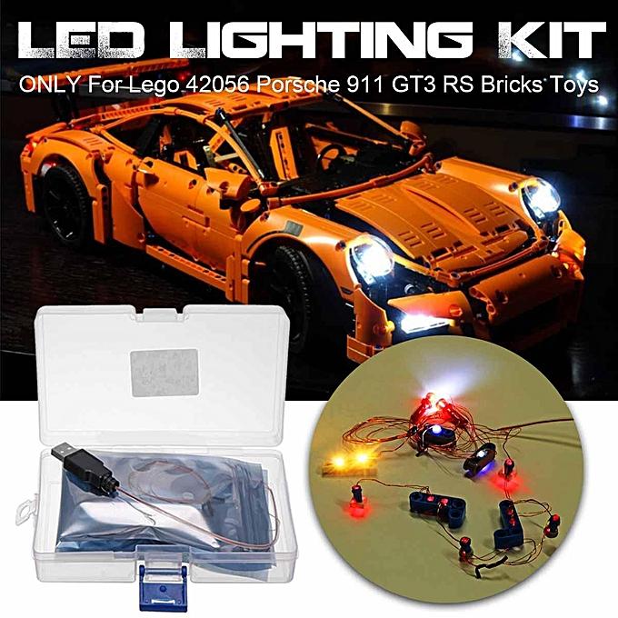 Autre Kit d'éclairage LED pour L-ego 42056 Porsche 911 GT3 RS Technic Briques Jouets DIY à prix pas cher