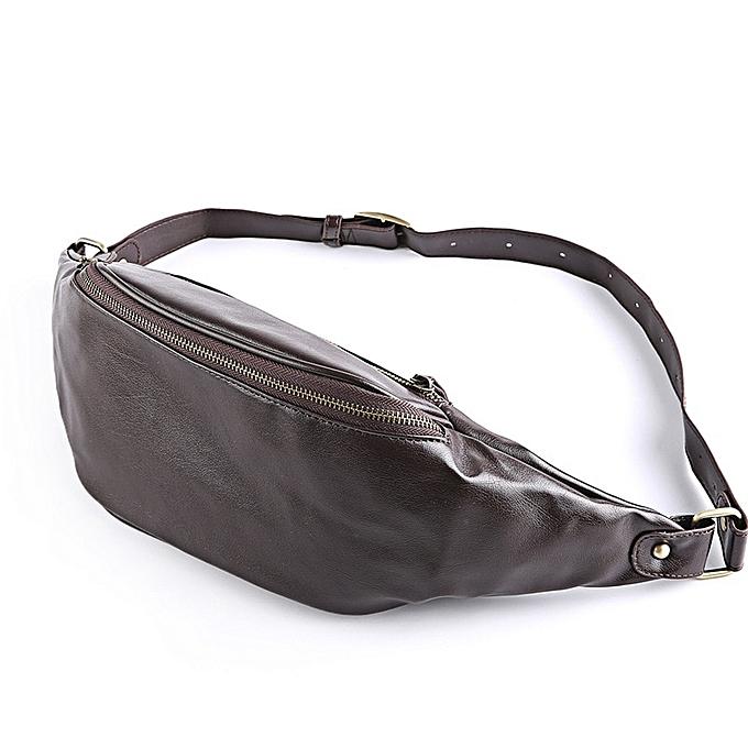 Other New Male Chest Bag Fashion Leisure Waterproof Man Leather Korea Style Messenger Shoulder Bag For Teenager Bag Brand(marron) à prix pas cher