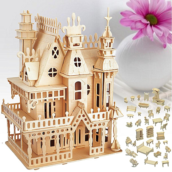 OEM Details about  DIY boisen Enfants Dolls House Room Miniature Kit Play Toy Christmas Home Gifts à prix pas cher