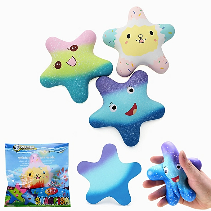 UNIVERSAL Vlampo Squishy Starfish 14cm Sweet Licensed SFaible Rising  Packaging Collection Gift Decor Toy-3 à prix pas cher