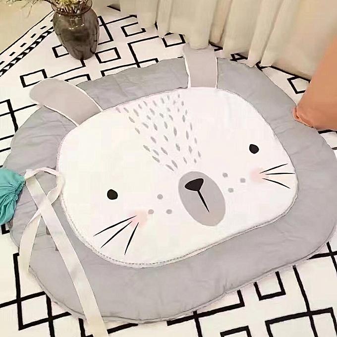 OEM Tapis de jeu pour bébé nouveau-né, tapis de sol, couvertures rampantes, tapis de coton à motif lapin, gris à prix pas cher