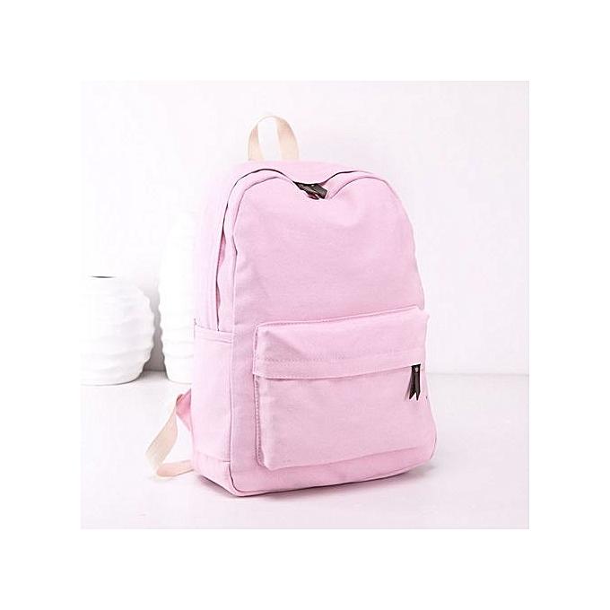 nouveauorldline femmes Girls toile Preppy Shoulder Booksacs School voyage sac à dos sac- rose à prix pas cher