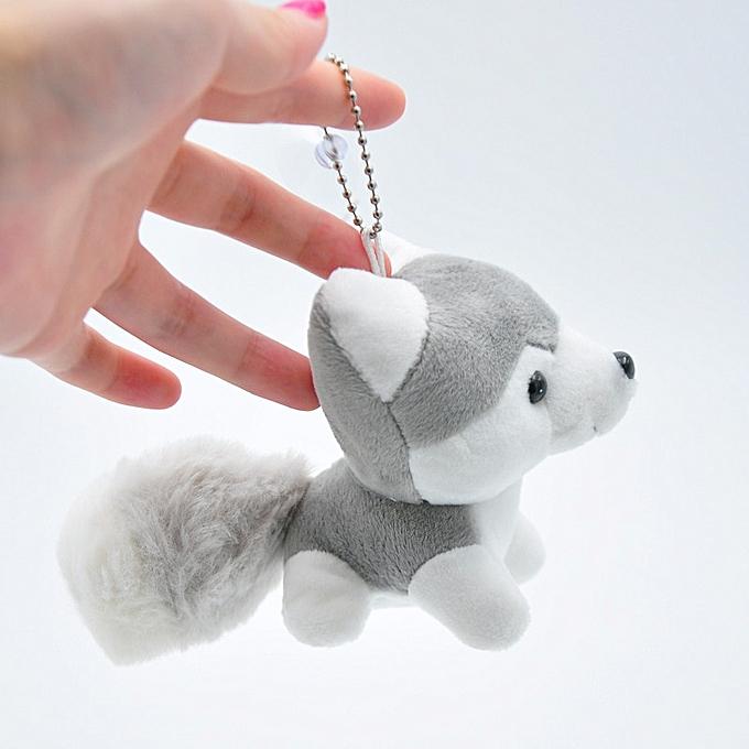 Autre Cute Little 9cm Approx Unicorn Plush Toys for Christmas Keychain Unicorn Plush Doll Toy Kids Gift Small Pendant Chain(dogs gris same photo) à prix pas cher