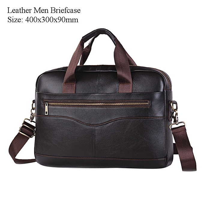 Other 2019 New Mens Laptop Briefcase Business Portable Uni Nylon Computer Handbags Simple Men's Simple Travel Office Messenger Bags(Type 2 Deep marron) à prix pas cher