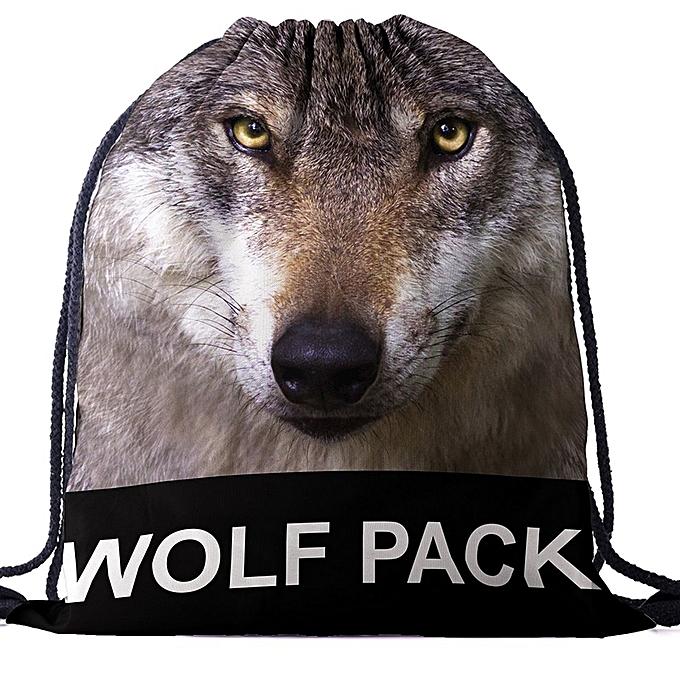 Generic Drawstbague sac Animal Novelty sac à dos imperméable sac à dos Durable à prix pas cher