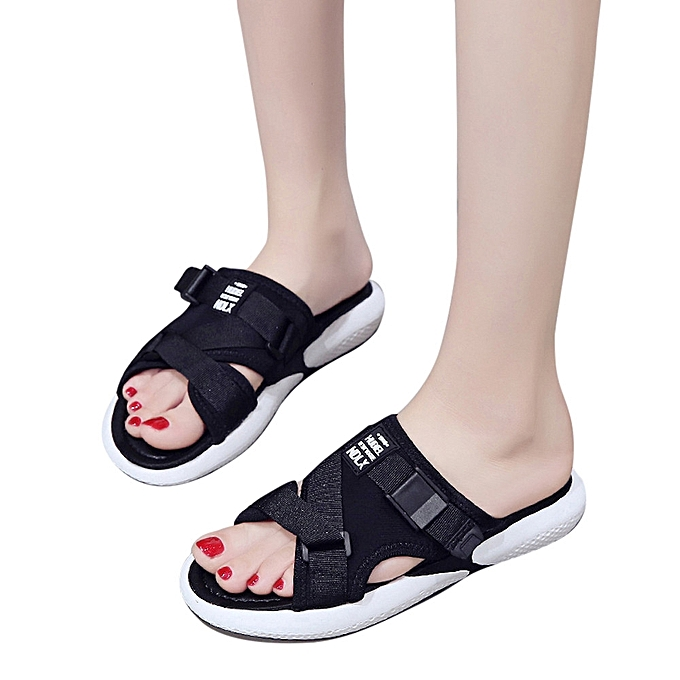 Fashion Fashion Summer Breathable Flat Anti Skidding Shoes Toe Open Toe Shoes Beach Sandals  -Black à prix pas cher  | Jumia Maroc cfcd85