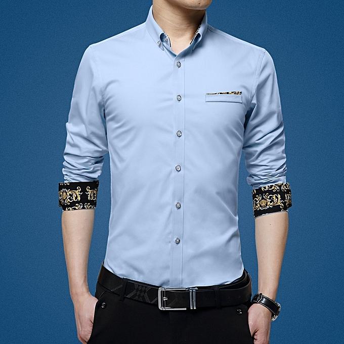 Tauntte Men's Shirts Long Sleeve Slim Fit Business Formal Shirts à prix pas cher