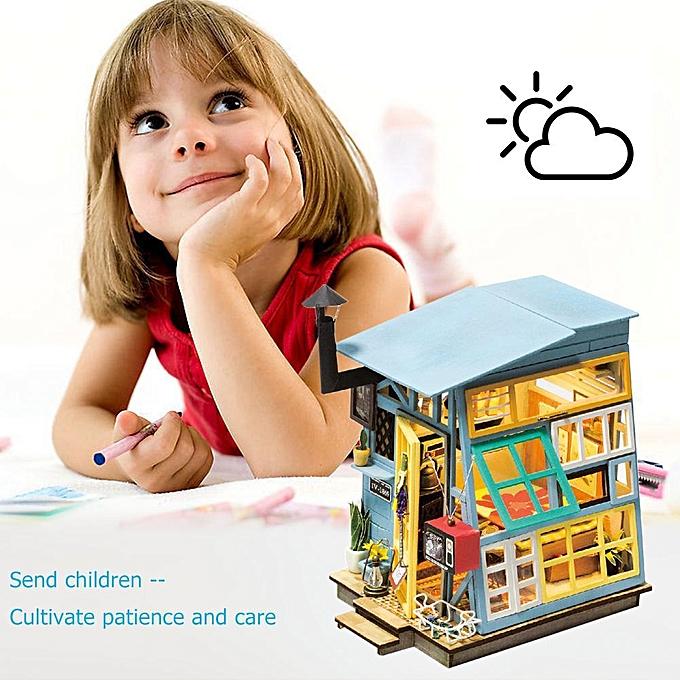 Autre Sunborui Miniature Maison De Poupée Kit Lumière Mobilier DIY Maison Décorations OrneHommests Jouets à prix pas cher