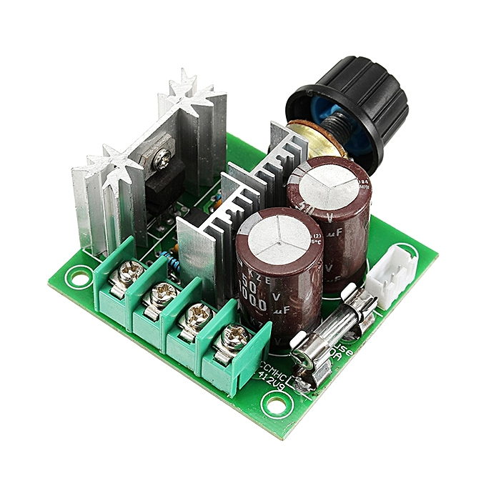 UNIVERSAL 3pcs DC 12V-40V 10A 13Khz Motor Speed Controller Pump PWM Stepless Speed Change Speed Control Switch à prix pas cher
