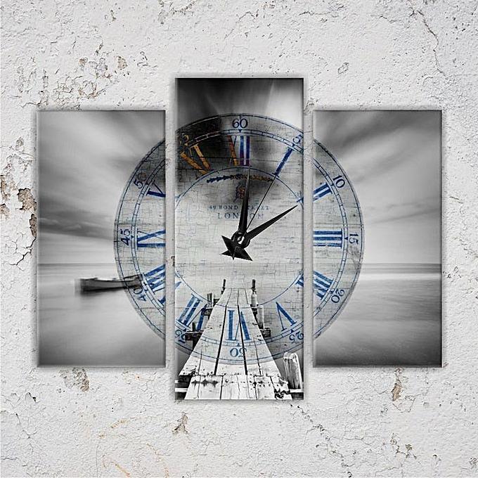 Tableau avec horloge 3 pi ces achat tableaux jumia maroc for Aide gouvernementale pour achat de maison