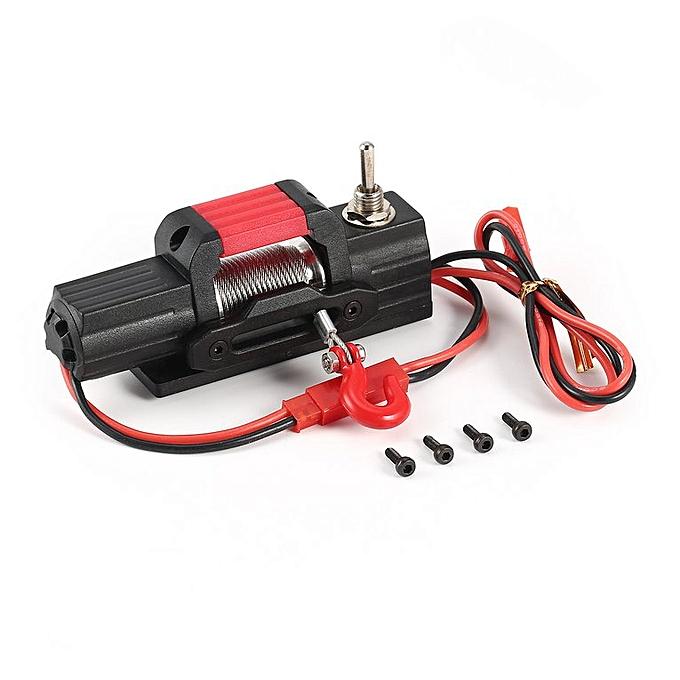 Generic Metal Electric Winch voiture Parts for 1 10 Axial 4WD SCX10 Traxxas D90 RC Crawler noir à prix pas cher