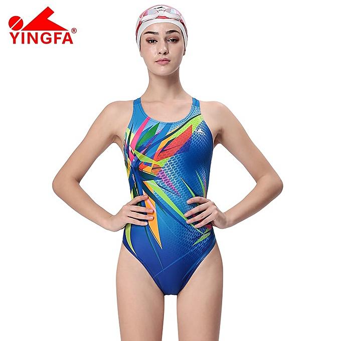 Other Yingfa Professional competition sports one piece triangle training maillot de bain imperméable femmes& 039;s maillot de bain bathing suit( 963 bleu) à prix pas cher