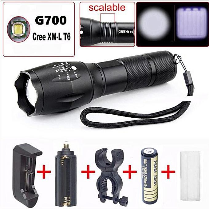 GENERAL quanxinhshang G700 Tactical Flashlight LED Military Lumens Alonefire à prix pas cher