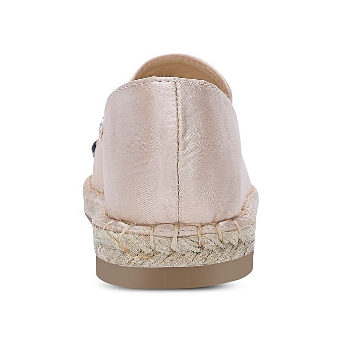 Fashion Round Toe Rhinestone Espadrilles Heel Flat Heel Espadrilles WoHommes  Shoes_APRICOT à prix pas cher  | Jumia Maroc 3bcb5f