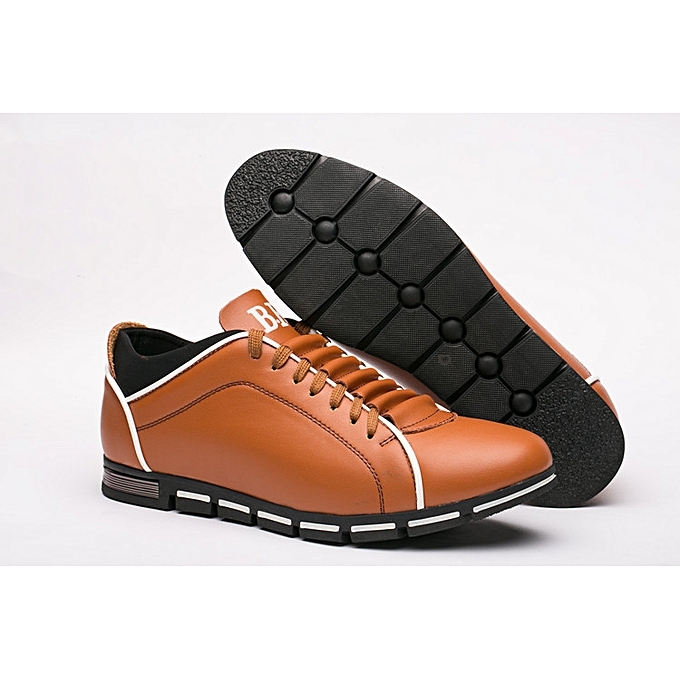 Fashion Men's chaussures fashion England sports style casual cross-country chaussures extra large four seasons hommes chaussures-Orange à prix pas cher    Jumia Maroc