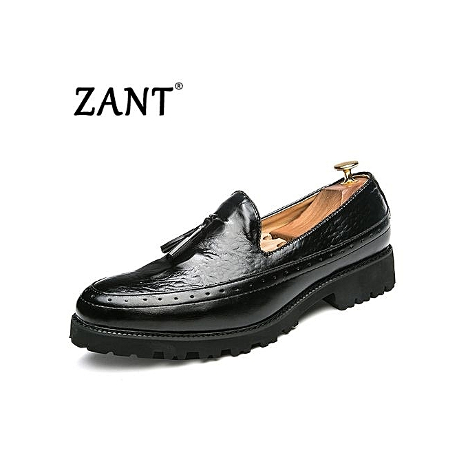 Zant Genuine Leather Men Formal chaussures British Sytle Loafers Slip-On noir à prix pas cher    Jumia Maroc