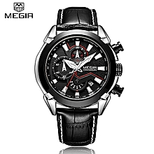 b4a0930e8c96d Megir ساعة يدوية رجالية كرونو