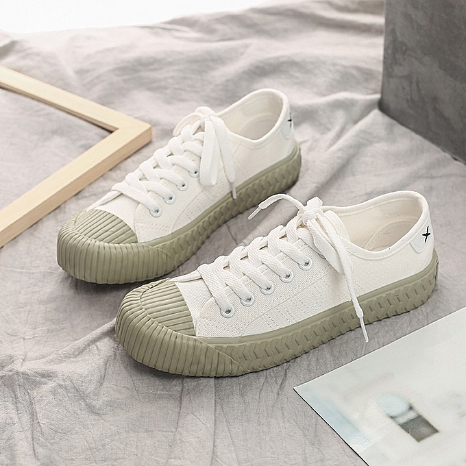 Other Stylish Female Students Korean Spring Biscuit Board Breathable Canvas chaussures-blanc à prix pas cher    Jumia Maroc