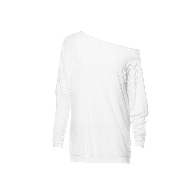 Fashion (Xiuxingzi) femmes Off Shoulder Knitted Tops Sexy Loose Batwing Long Sleeve Sweater à prix pas cher