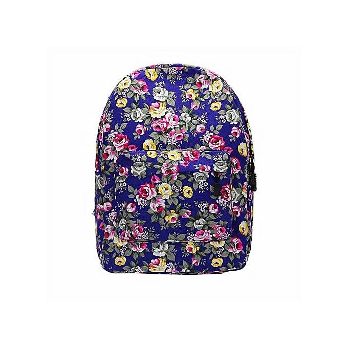 Generic Xiuxingzi_ Fashion femmes Girl Canvas Rucksack Flower Backpack School Bag Rucksack PP à prix pas cher